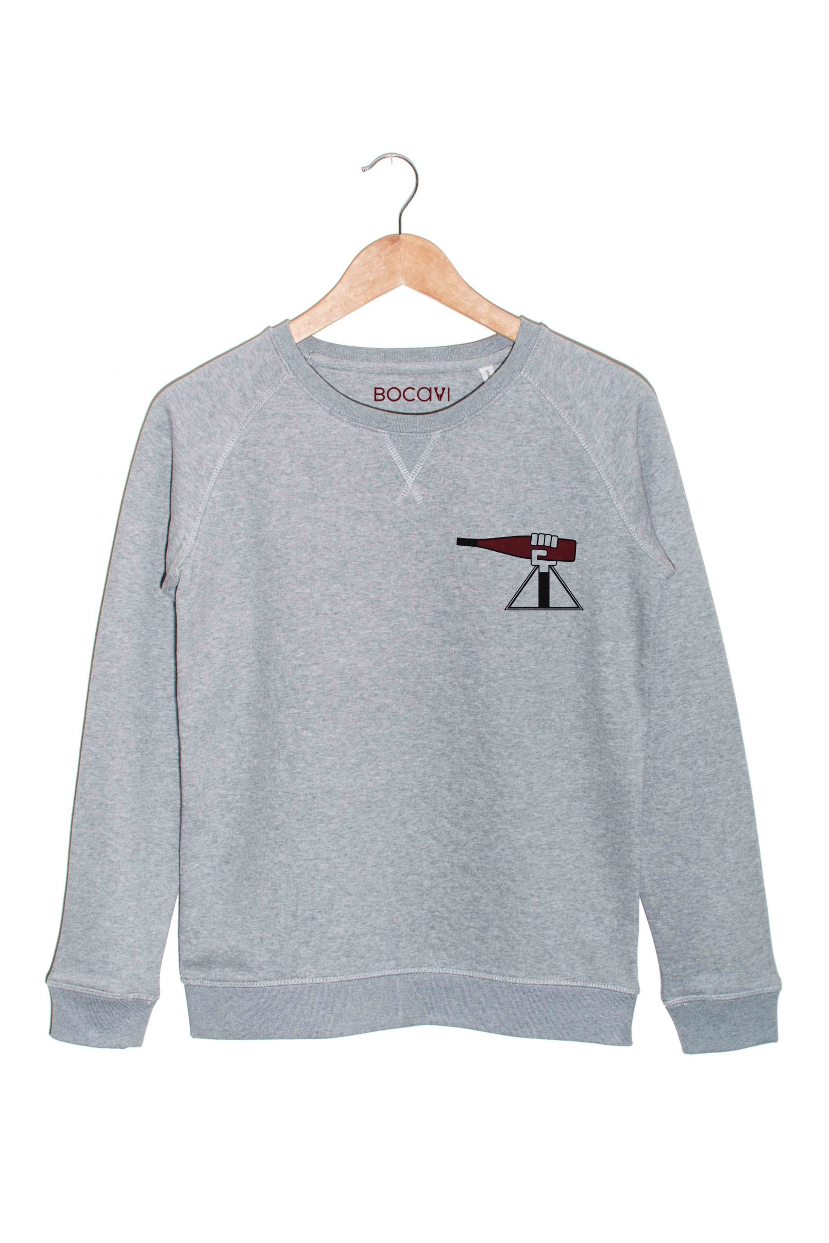 alsace alsacienne zink rouge sweat gris
