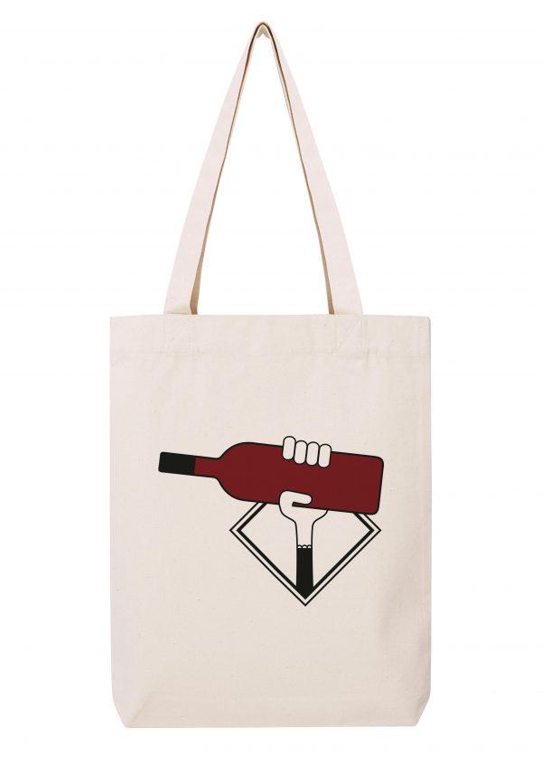 bordeaux rouge femme sac coton tote bag bio bocavi du vin dans ta penderie bouteilles viticole vigneron wine