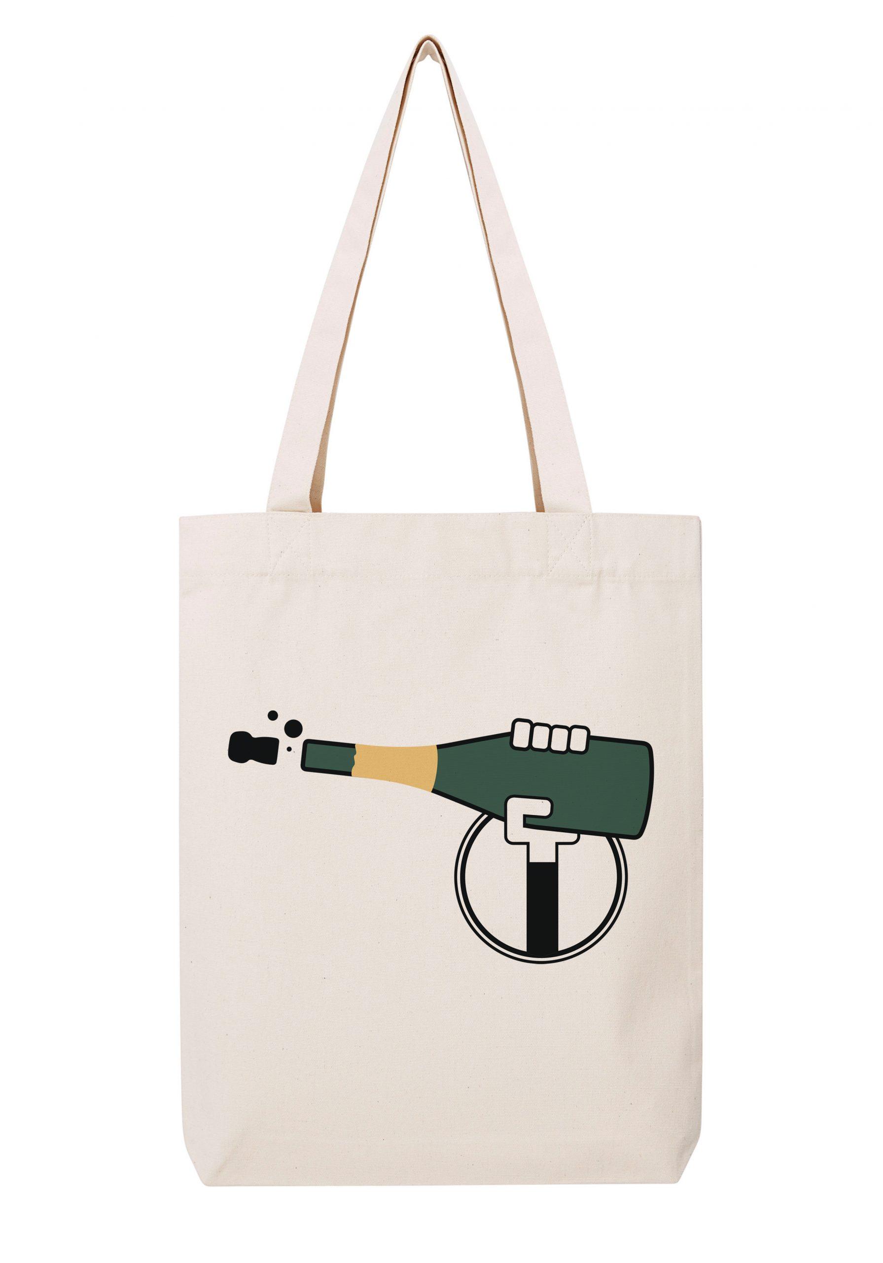 champagne homme rouge sac coton tote bag bio bocavi du vin dans ta penderie bouteilles viticole vigneron wine