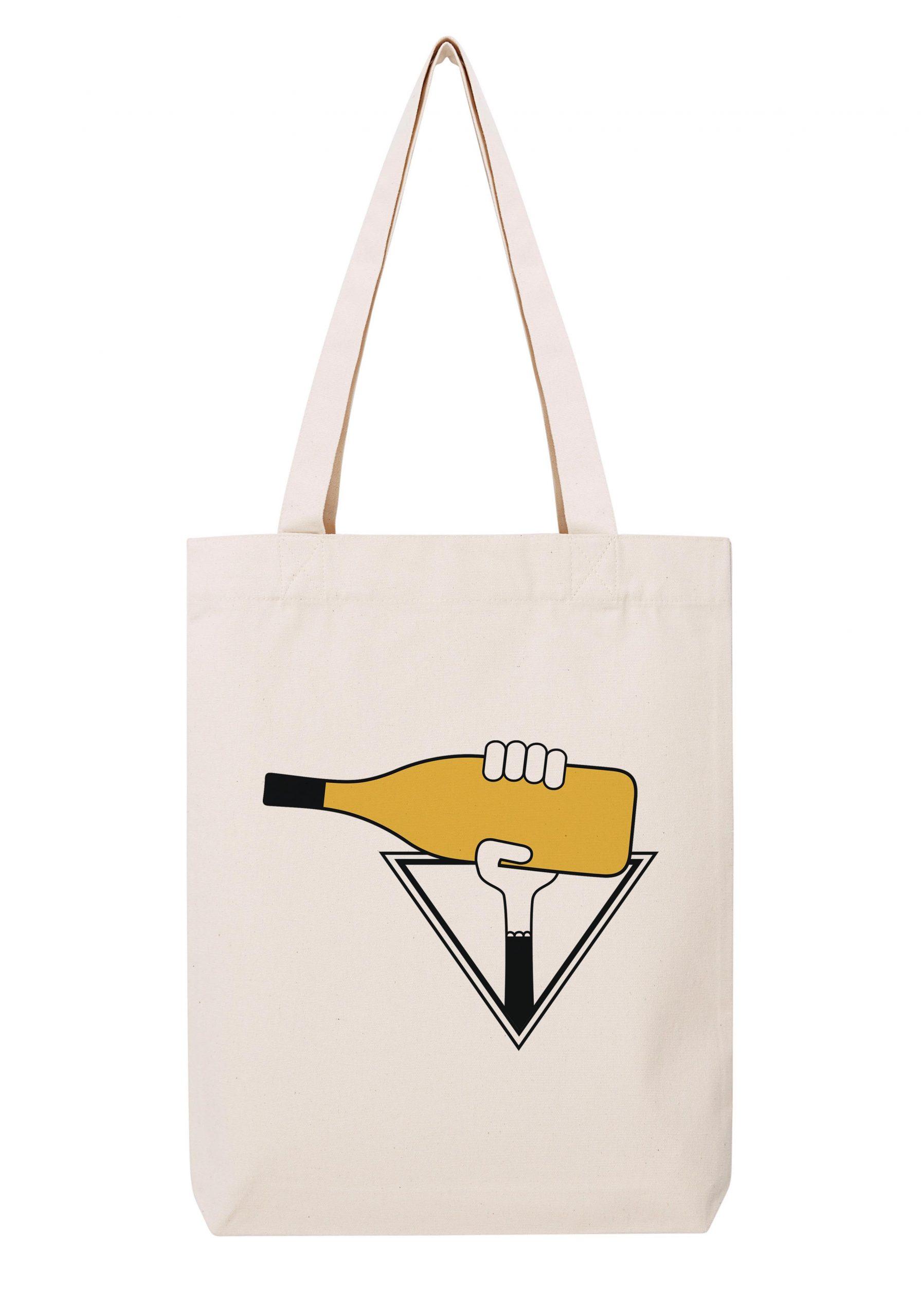 cote du rhone viognier femme sac coton tote bag bio bocavi du vin dans ta penderie bouteilles viticole vigneron wine