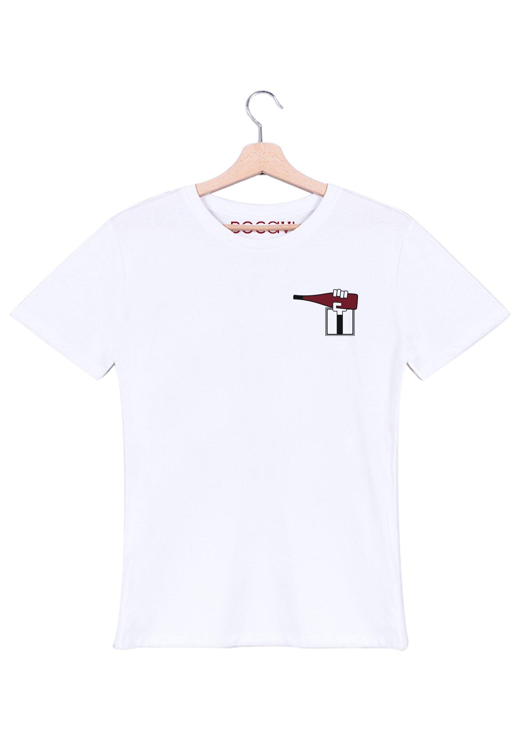 ligérienne val de loire chinon rouge t-shirt blanc homme bocavi du vin dans ta penderie bouteilles viticole vigneron wine