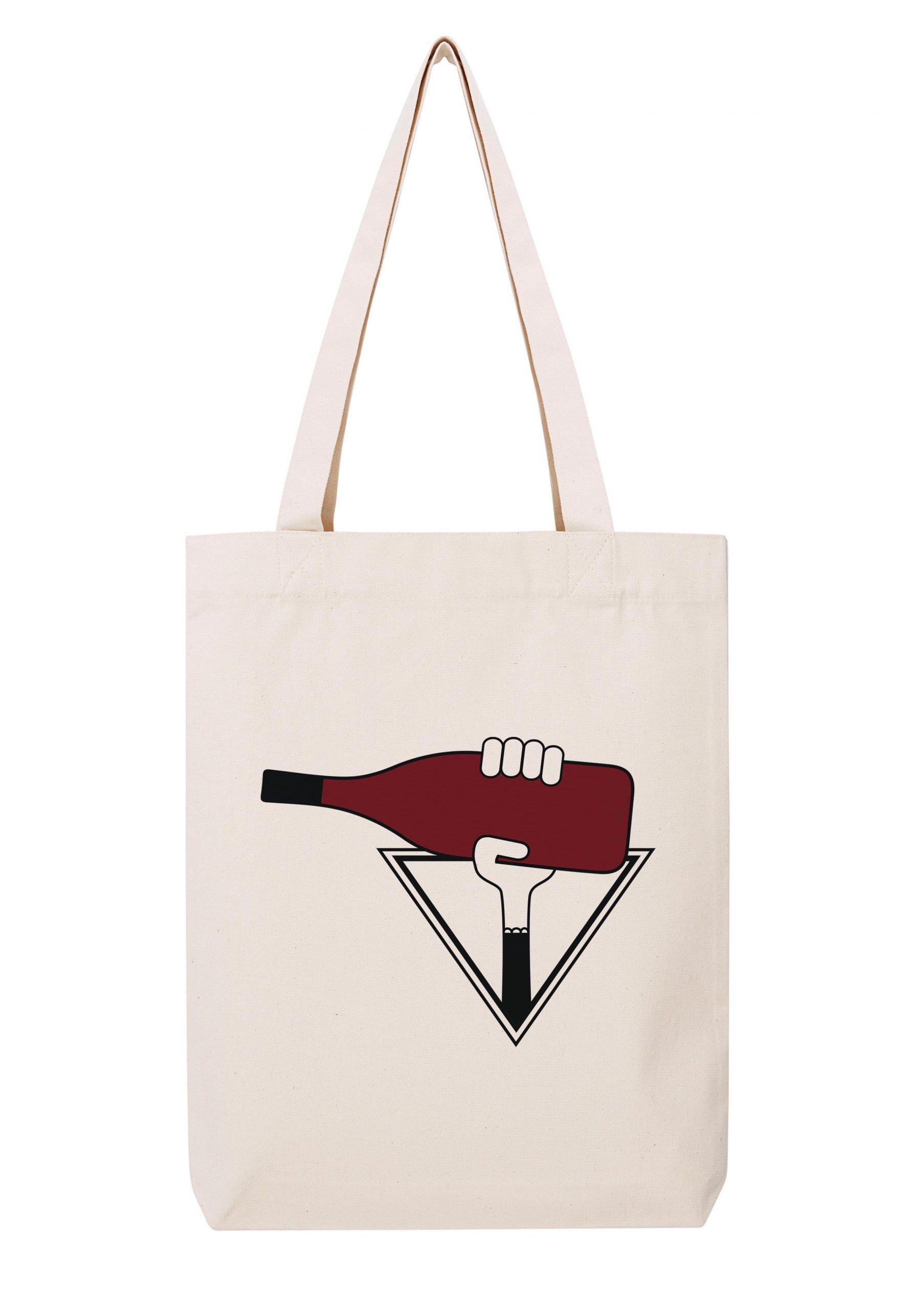 rhone ermitage rouge femme sac coton tote bag bio bocavi du vin dans ta penderie bouteilles viticole vigneron wine