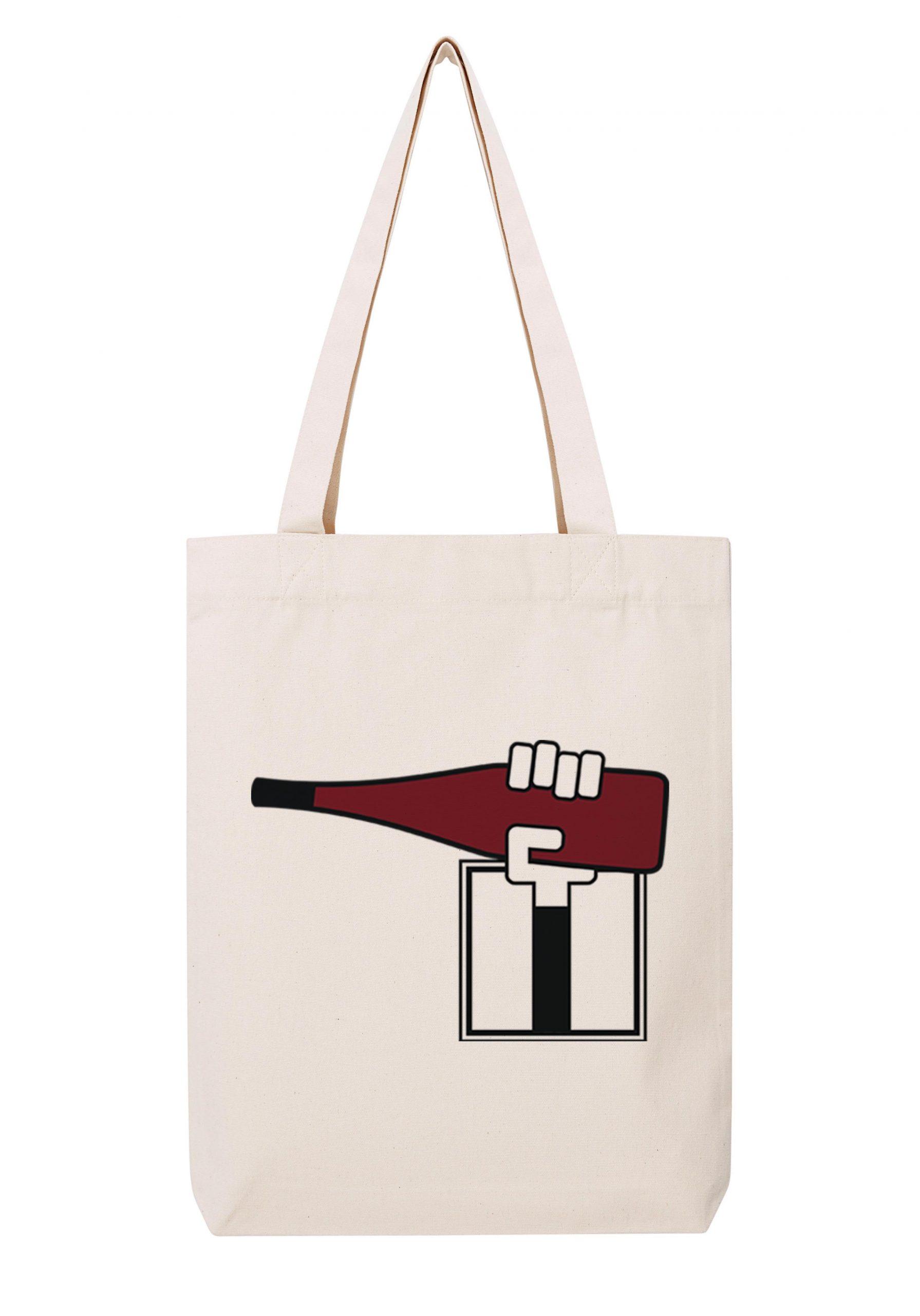 val de loire homme rouge sac coton tote bag bio bocavi du vin dans ta penderie bouteilles viticole vigneron wine